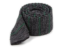 Ties - Scramble Knit Stripe - Hunter Green