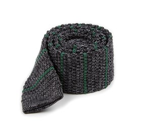 Hunter Green Scramble Knit Stripe ties