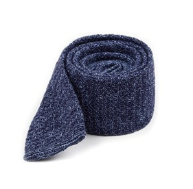Knitted Soul Solid Blue Ties