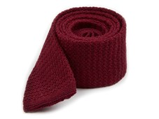 Ties - Knitted Soul Solid - Burgundy
