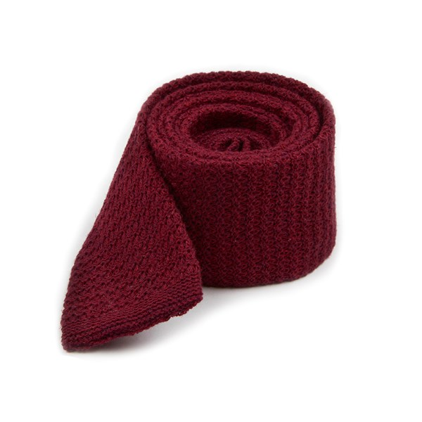 Burgundy Knitted Soul Solid Tie