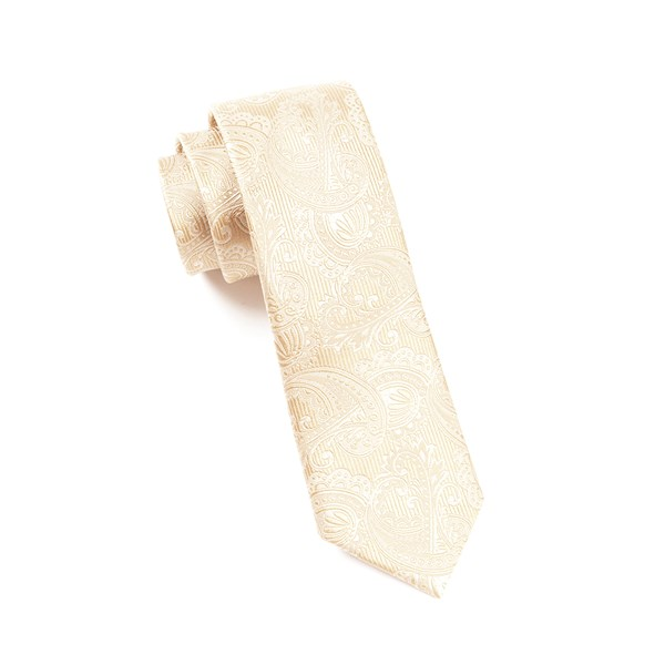 Champagne Twill Paisley Tie