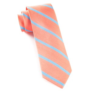 trad stripe coral ties
