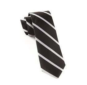 Black TRAD STRIPE ties