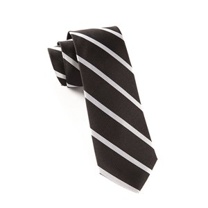 trad stripe black ties
