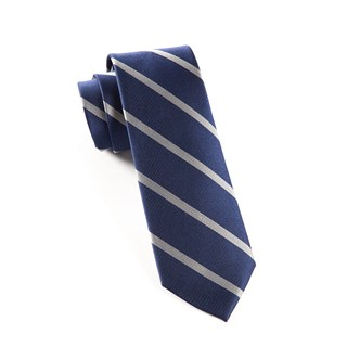 trad stripe true navy ties