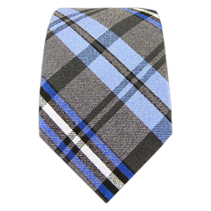 winter plaid blues ties