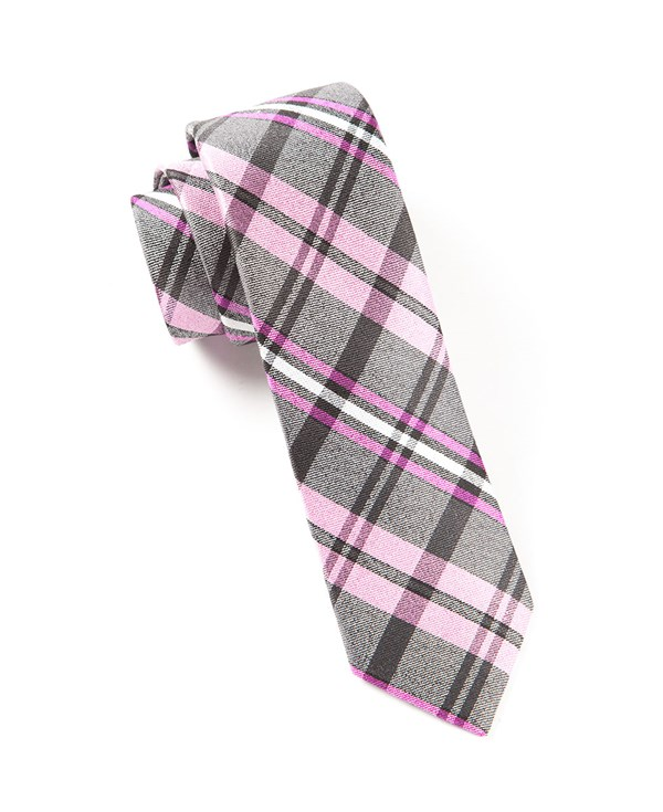 Winter Plaid Pinks Tie
