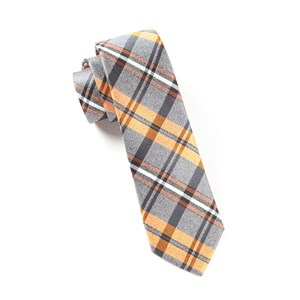 winter plaid oranges ties