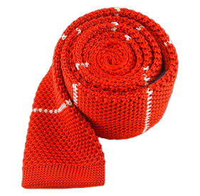 Knit Stripe Apple Red Ties