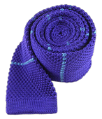 Ties - Knit Stripe - Violet