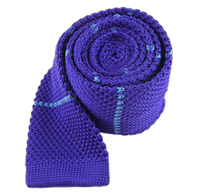 Violet Knit Stripe ties