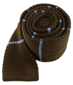 Ties - Knit Stripe - Brown