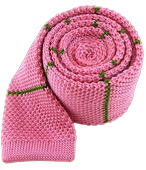 Ties - Knit Stripe - Pink
