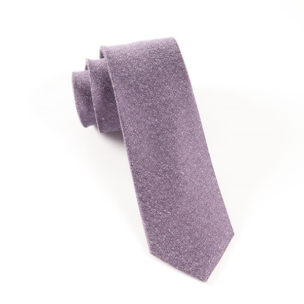 Purple Linen Stitched Tie