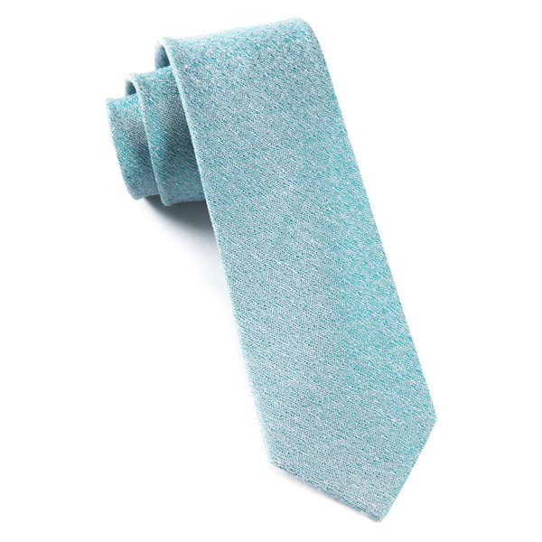 Robins Egg Linen Stitched Tie