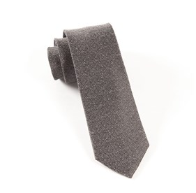 Grey Linen Stitched ties