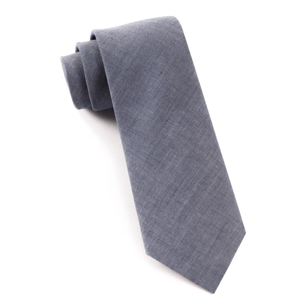 Warm Blue Classic Chambray Tie