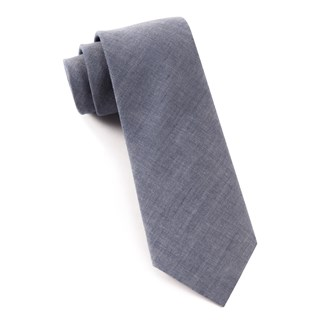 Classic Chambray Warm Blue Tie