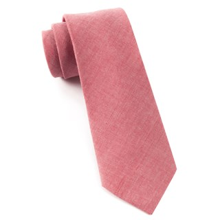 classic chambray red ties
