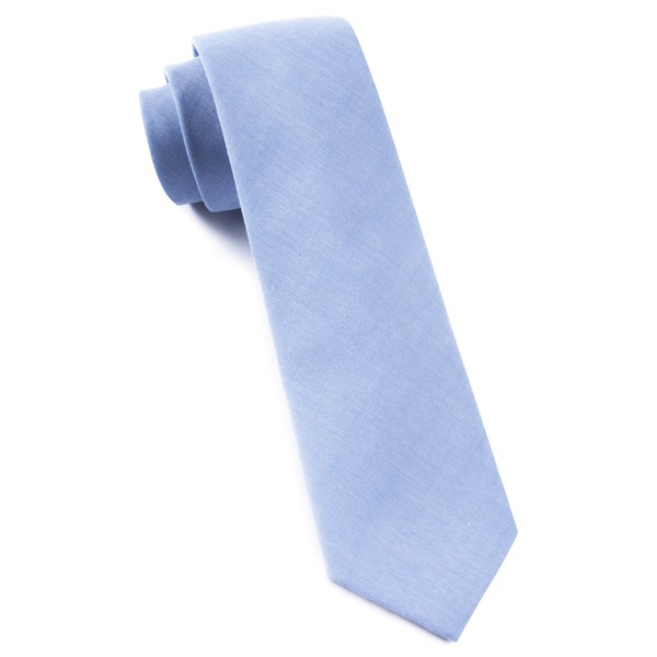 Sky Blue Classic Chambray Tie