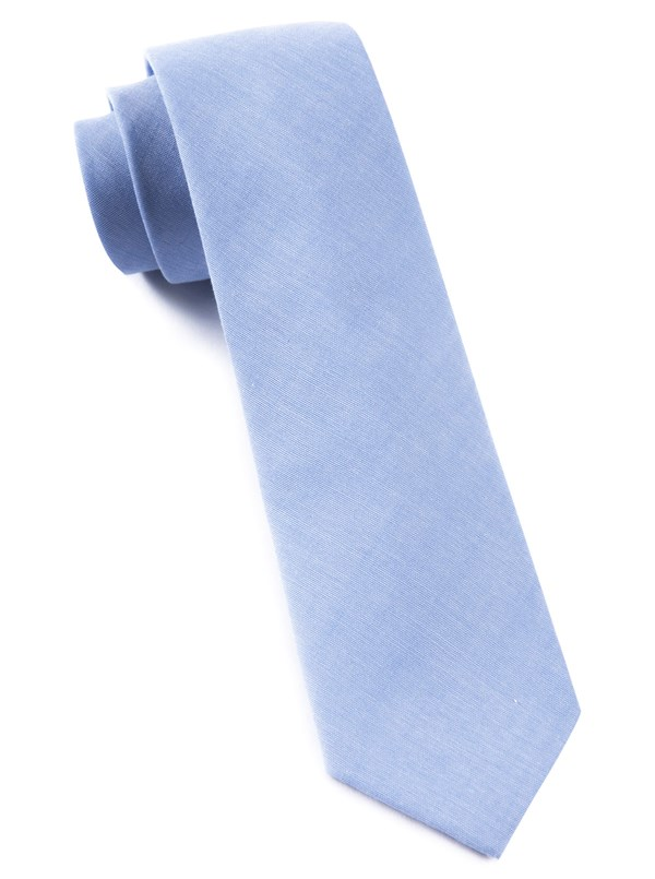 Classic Chambray Sky Blue Tie