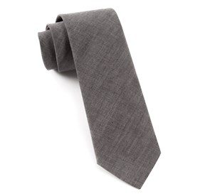 Warm Grey Classic Chambray ties