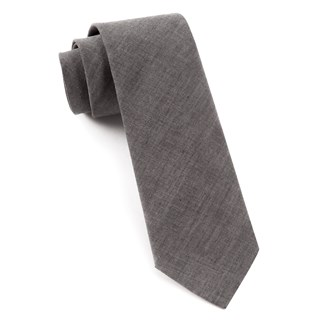 Classic Chambray Warm Grey Tie