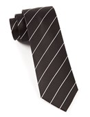 Ties - Pencil Pinstripe - Classic Black