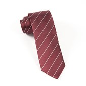 Ties - Pencil Pinstripe - Root Beer