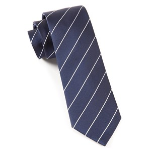 pencil pinstripe classic navy ties