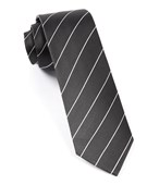 Ties - Pencil Pinstripe - Bullet Grey