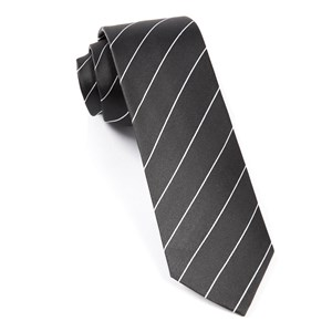 pencil pinstripe bullet grey ties
