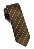 Ties - Pencil Pinstripe - Mud