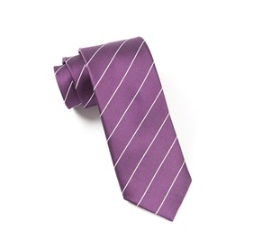 Deep Plum Pencil Pinstripe ties