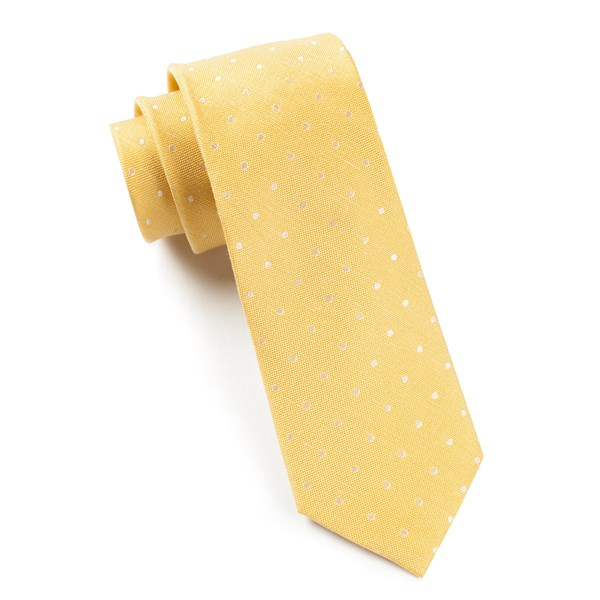 Butter Dotted Dots Tie