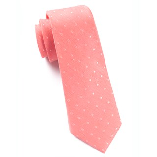 dotted dots coral ties