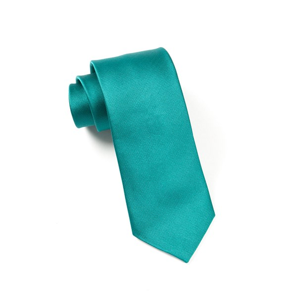 Green Teal Grosgrain Solid Tie