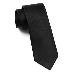 grosgrain solid black boys ties