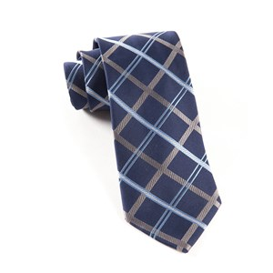 millburn plaid navy ties