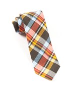 Ties - Sole Plaid - Cantaloupe