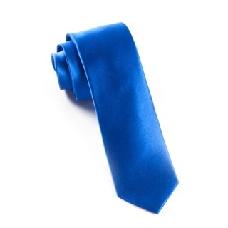 solid satin royal blue ties