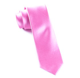 Solid Satin Wild Pink Ties