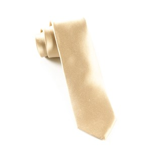 solid satin light champagne ties