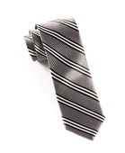 Ties - Bar Stripes - Charcoal