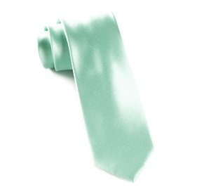 Spearmint Solid Satin ties