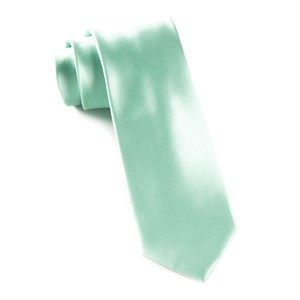 solid satin spearmint ties
