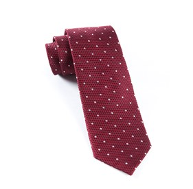 Burgundy Grenafaux Dots ties