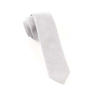 flannel herringbone light grey ties