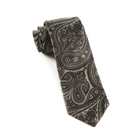 Charcoal Empire Paisley ties